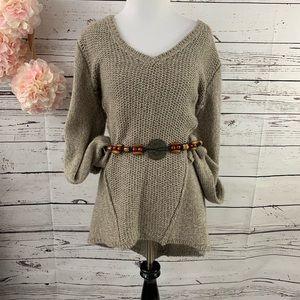Calvin Klein Knit V-Neck Hi-Lo Sweater Sz. M